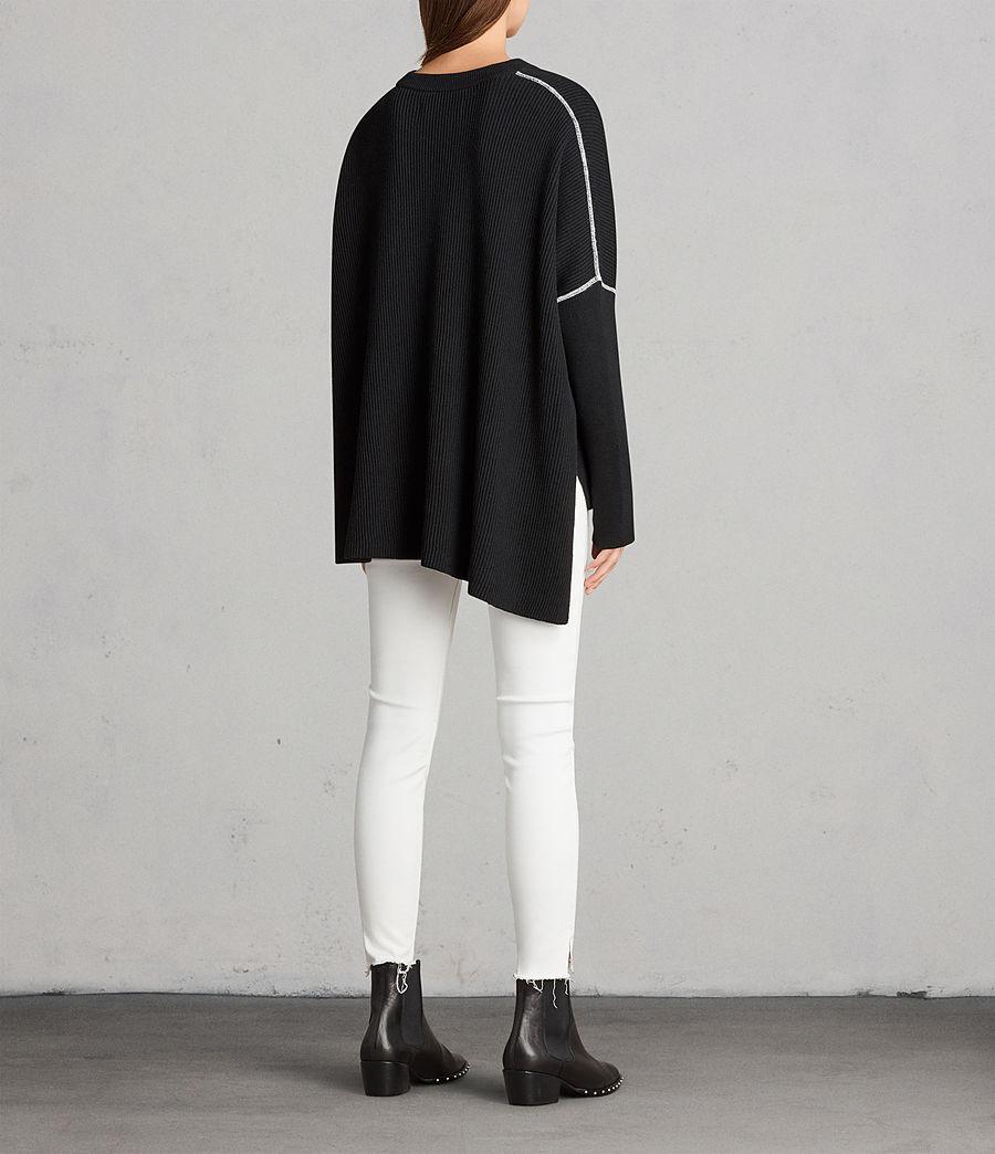Damen Rohe Pullover (black) - Image 5