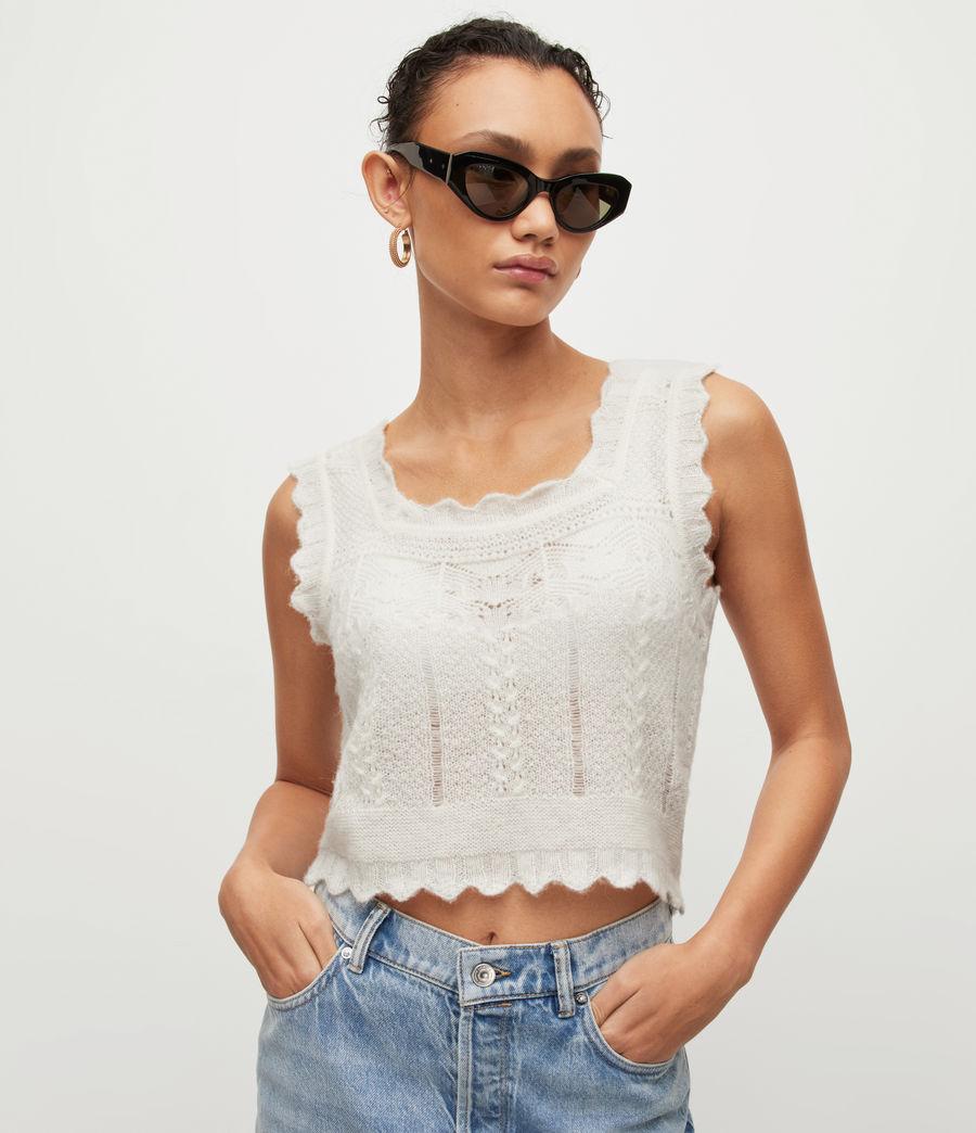 Women's Vanessa Vest Top (chalk_white) - Image 1