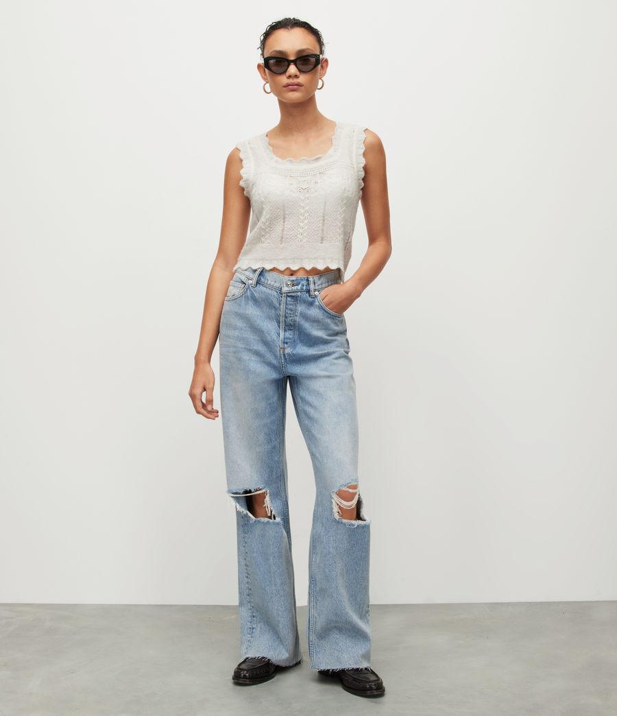 Women's Vanessa Vest Top (chalk_white) - Image 4