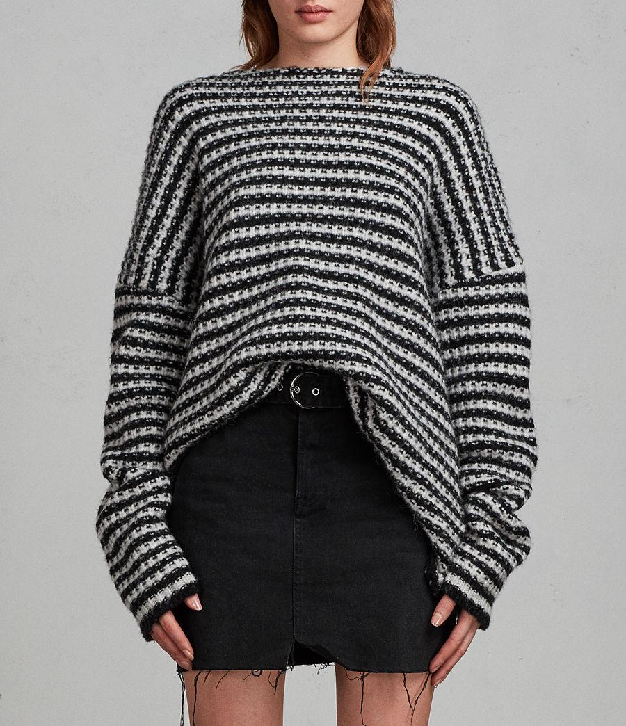 Femmes Pull Abigail (black_chalk_white) - Image 3