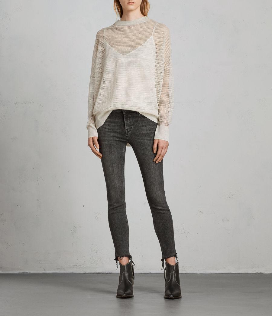 Womens Rizo Crew Sweater (linen) - Image 1