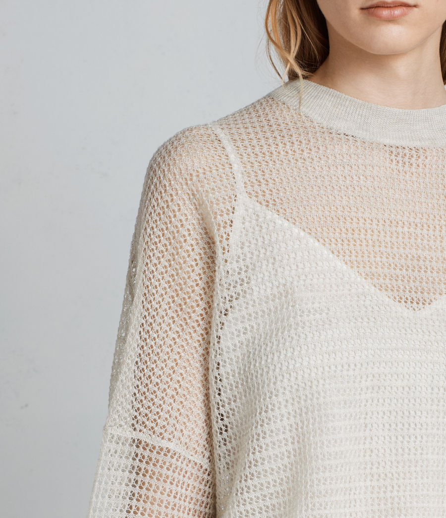Womens Rizo Crew Sweater (linen) - Image 2