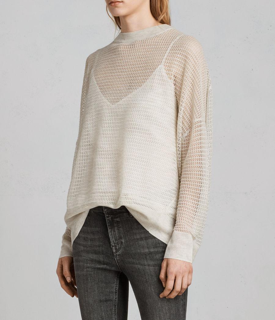 Womens Rizo Crew Sweater (linen) - Image 3