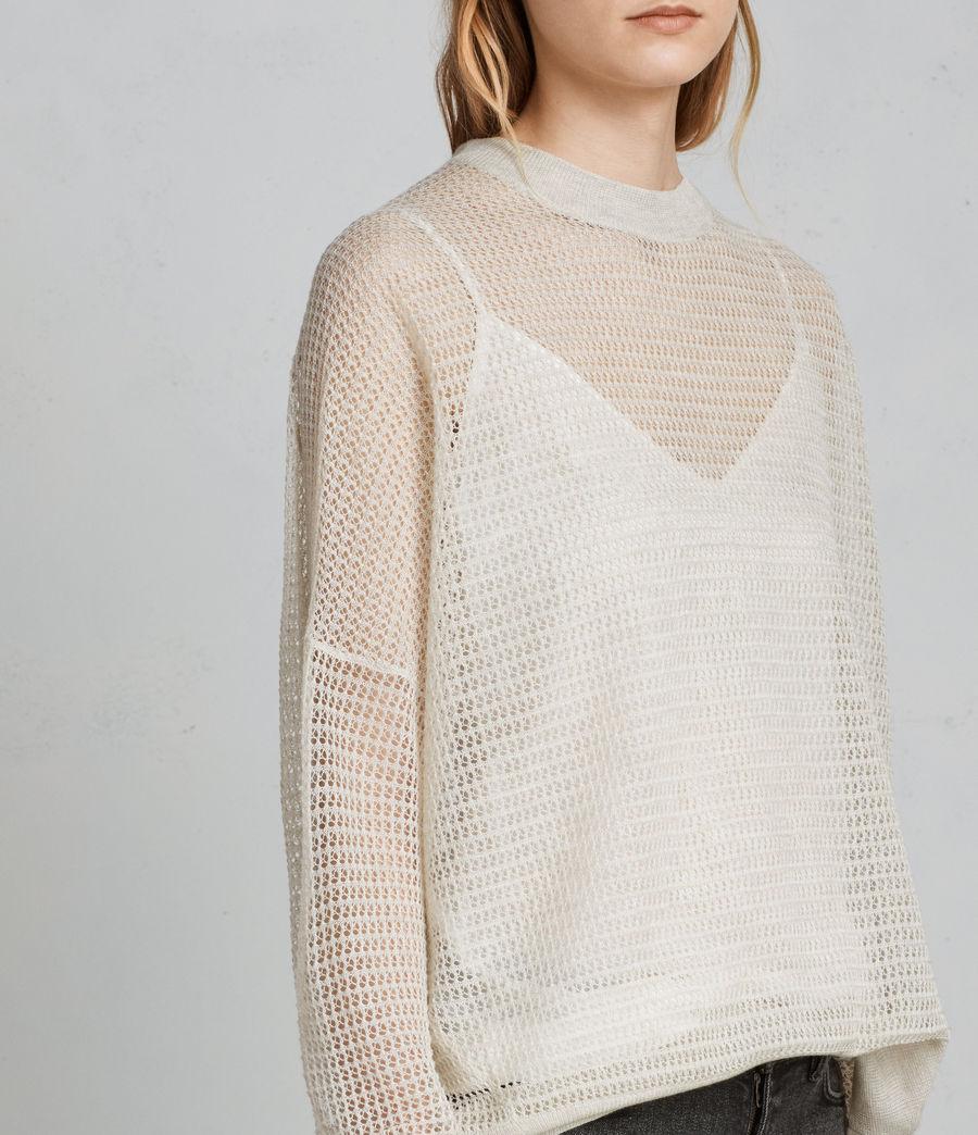 Womens Rizo Crew Sweater (linen) - Image 4