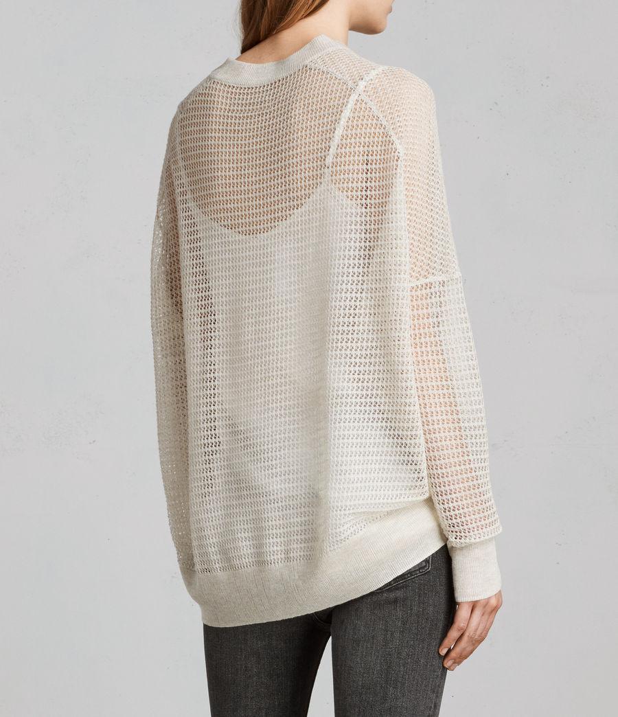 Womens Rizo Crew Sweater (linen) - Image 5