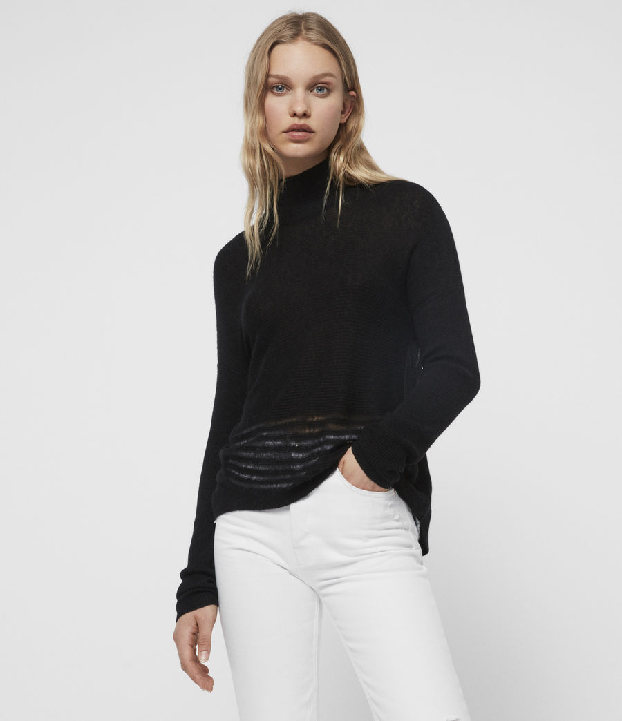 Womens Mara Turtle Neck Sweater (black) - Image 1