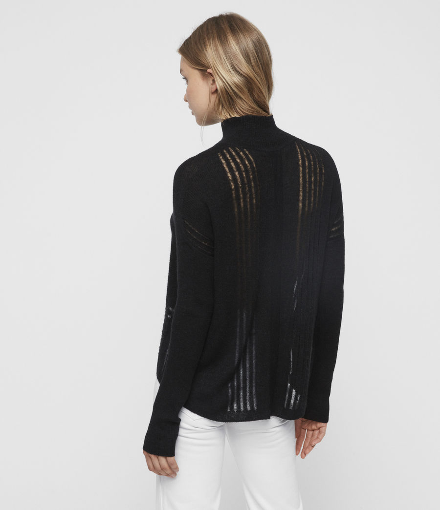 Womens Mara Turtle Neck Sweater (black) - Image 4