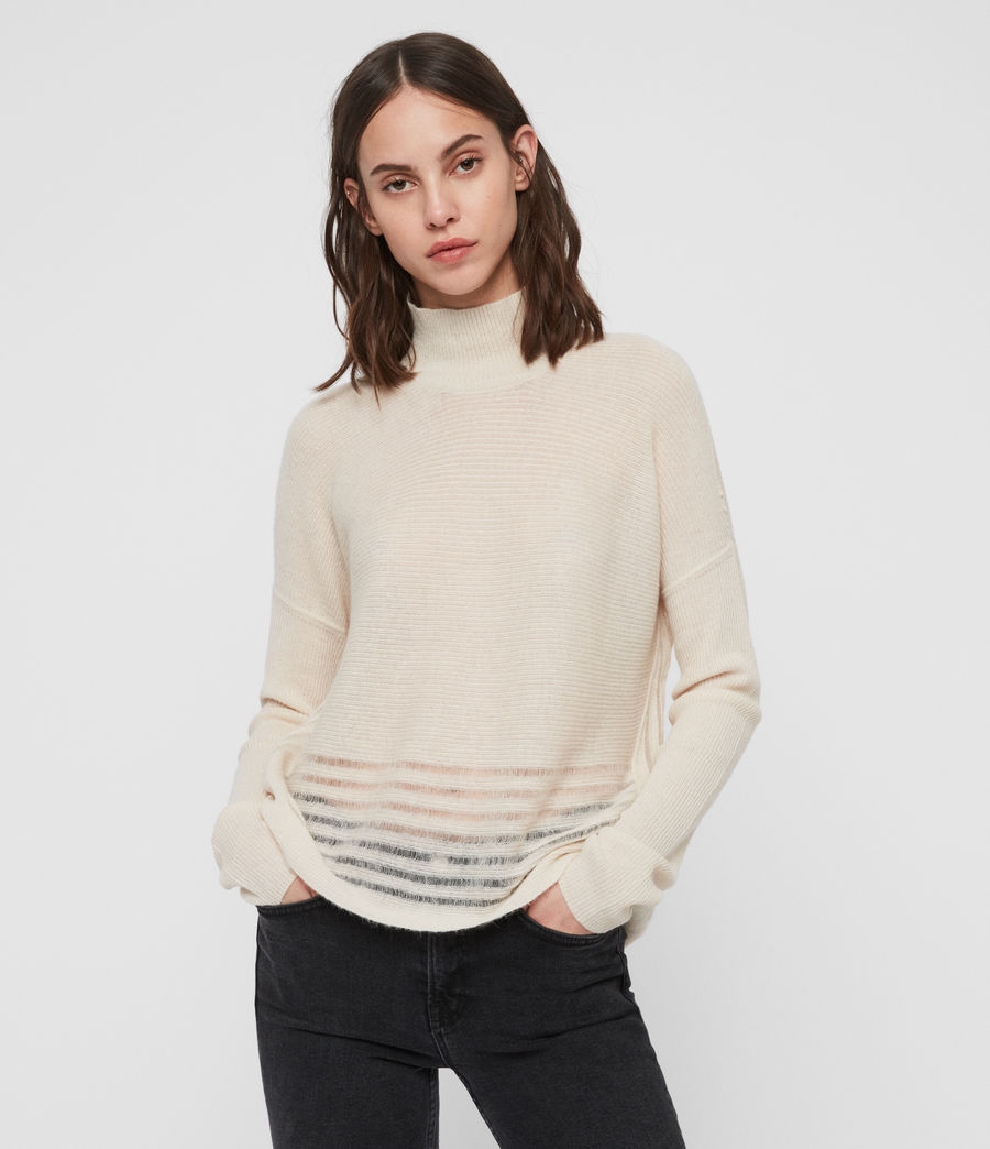 Women's Mara Turtle Neck Jumper (china_white) - Image 1