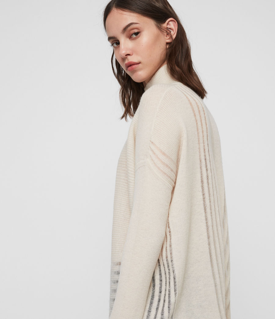 Womens Mara Turtle Neck Sweater (china_white) - Image 2