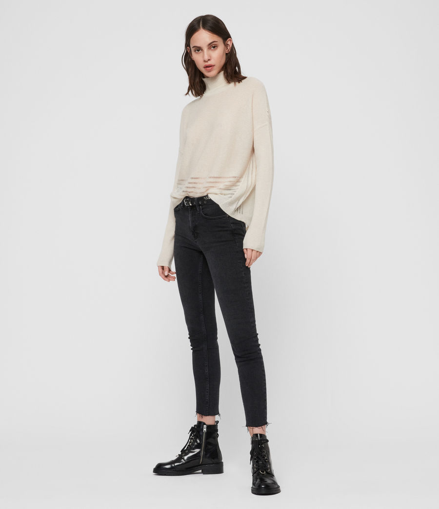 Women's Mara Turtle Neck Jumper (black) - Image 3