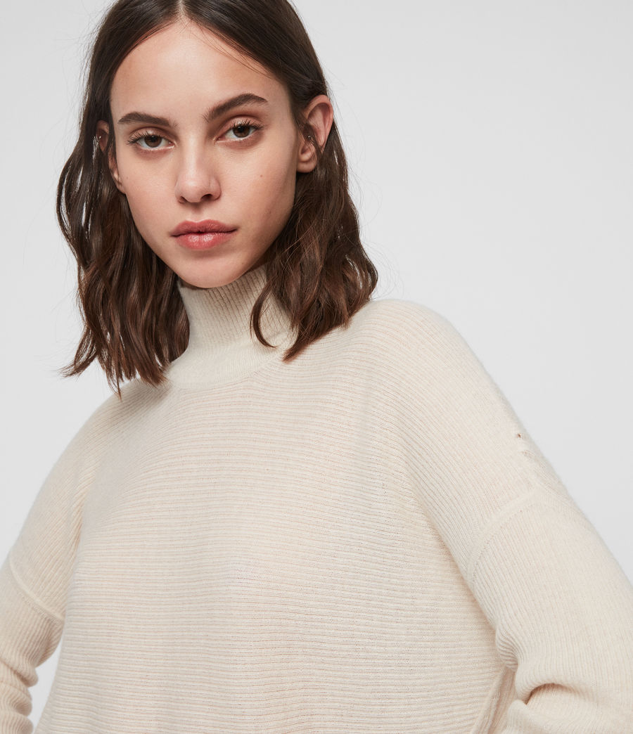 Women's Mara Turtle Neck Jumper (china_white) - Image 4