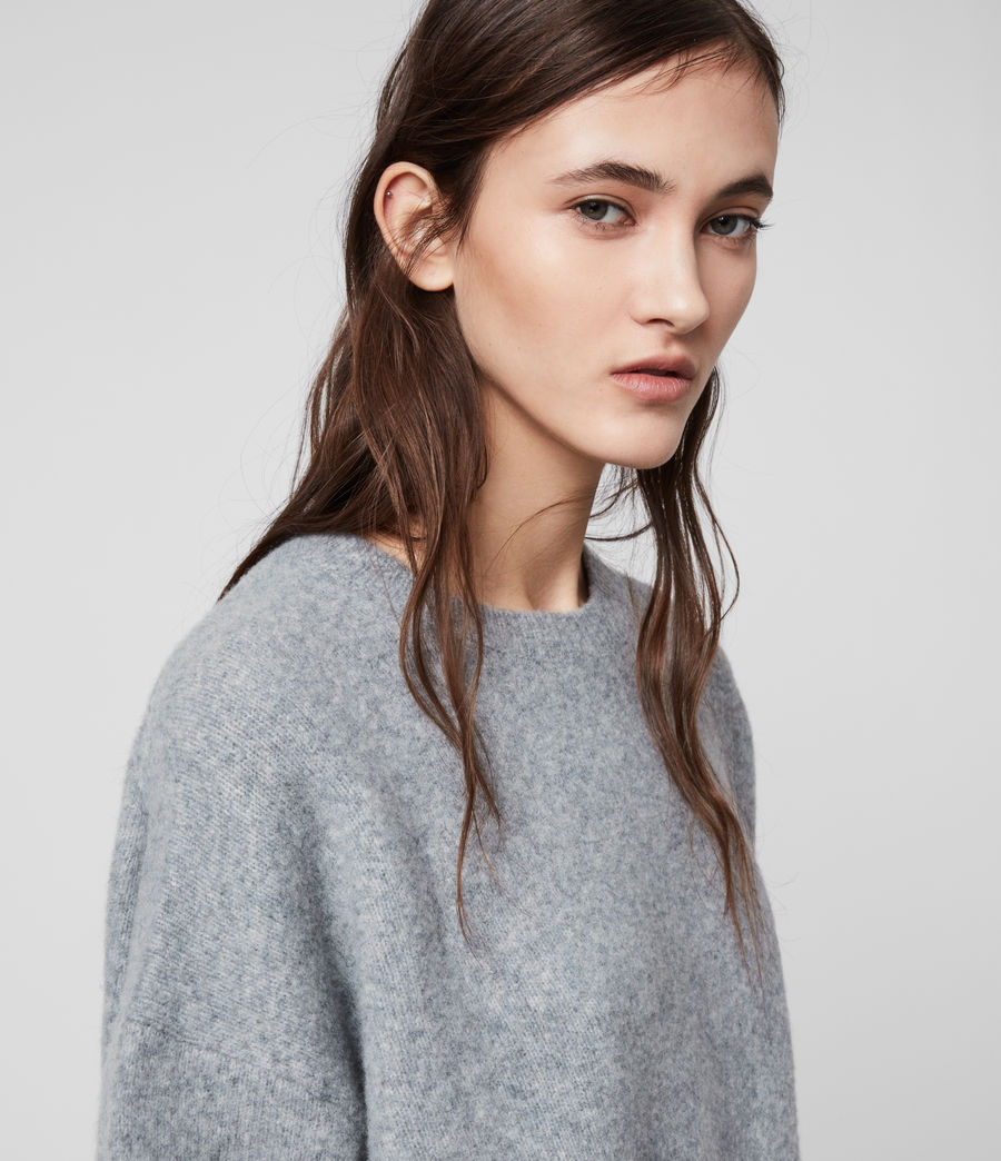 Womens Rufa Sweater (grey_marl) - Image 1