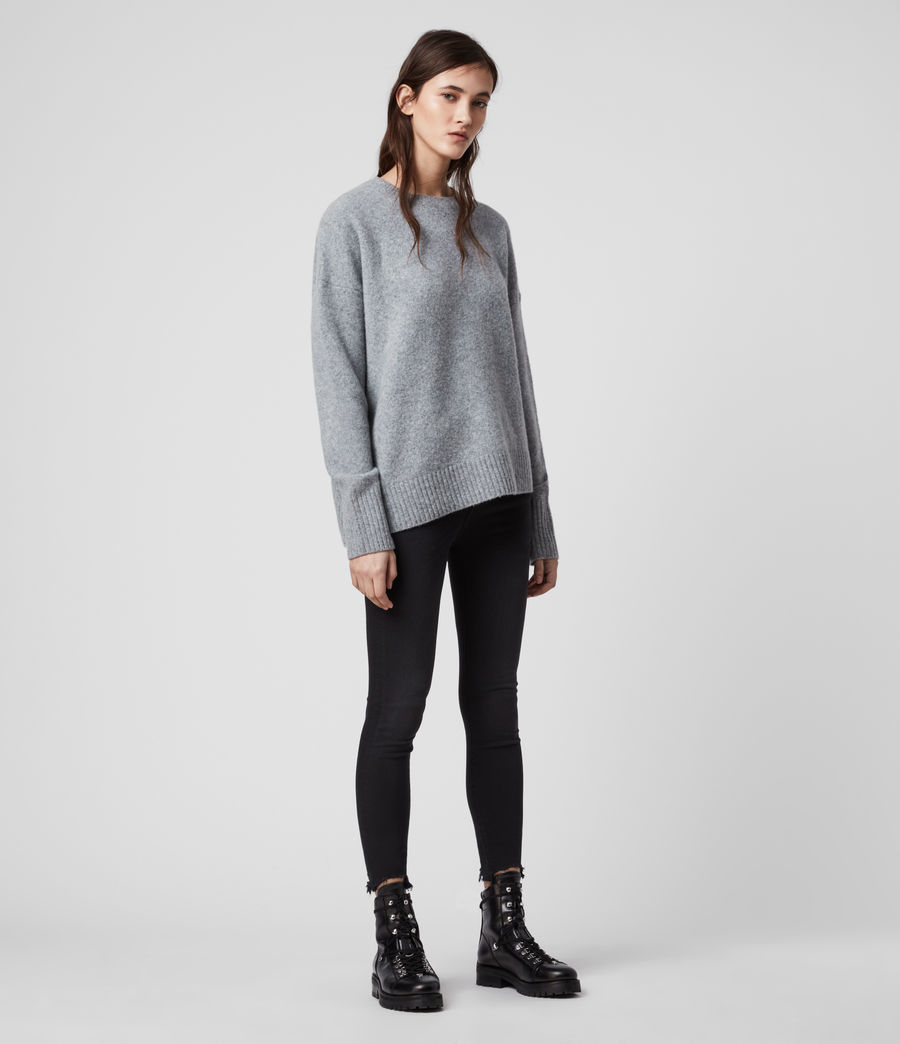 Womens Rufa Sweater (grey_marl) - Image 2