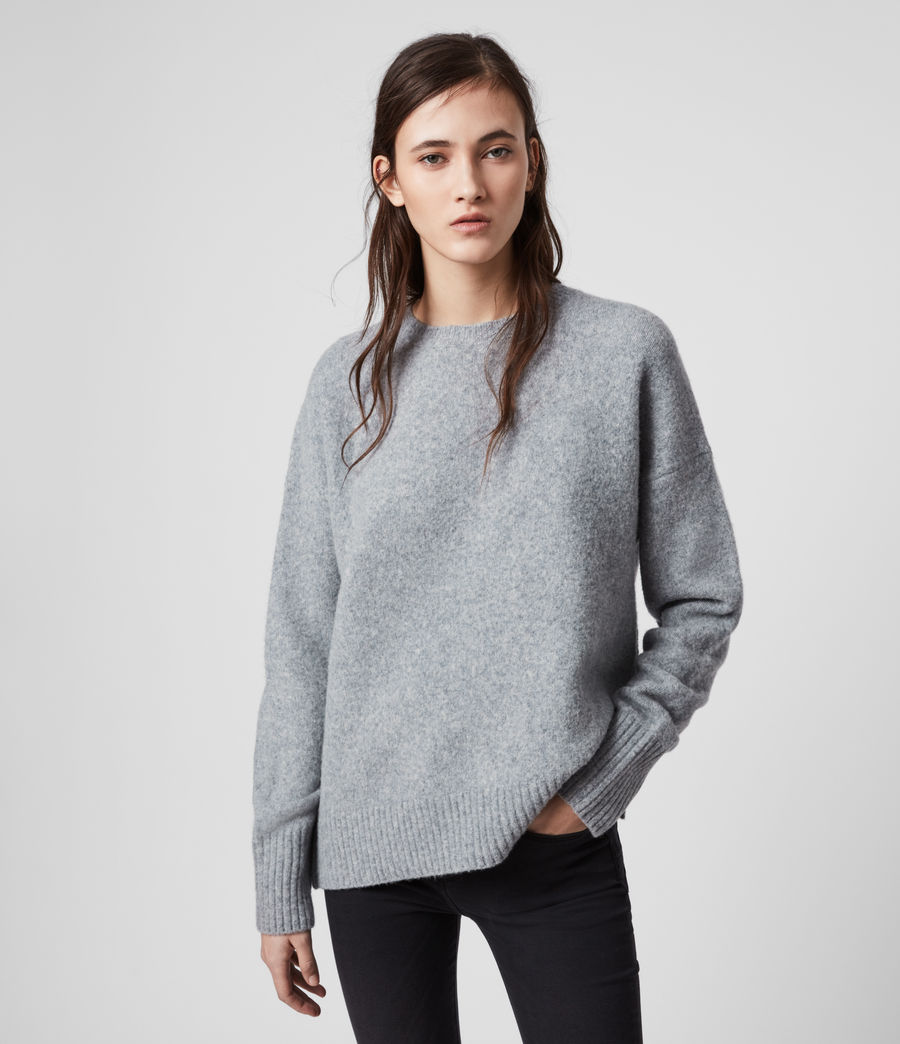 Womens Rufa Sweater (grey_marl) - Image 3