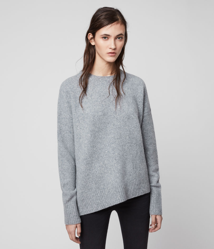 Womens Rufa Sweater (grey_marl) - Image 4