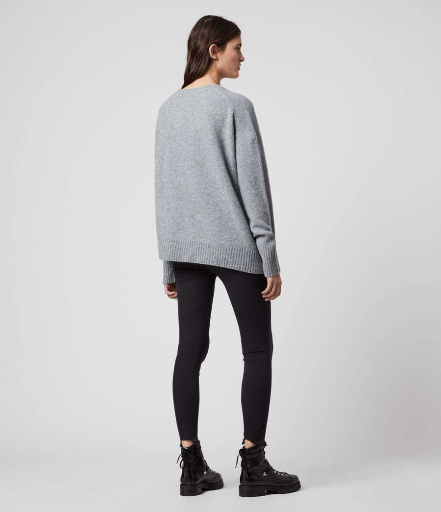 Womens Rufa Sweater (grey_marl) - Image 5