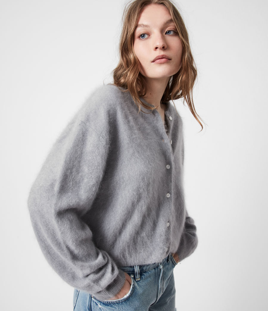 Women's Chrissy Cashmere Cardigan (cement_grey) - Image 1