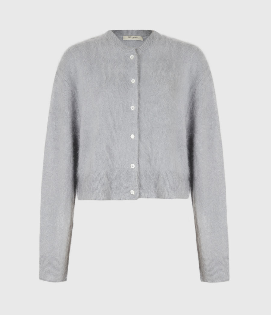 Women's Chrissy Cashmere Cardigan (cement_grey) - Image 2