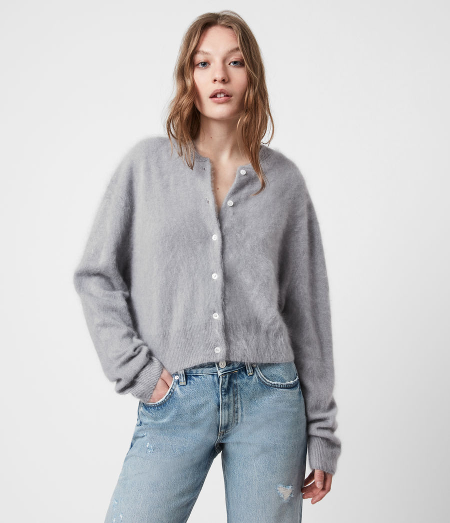 Women's Chrissy Cashmere Cardigan (cement_grey) - Image 4