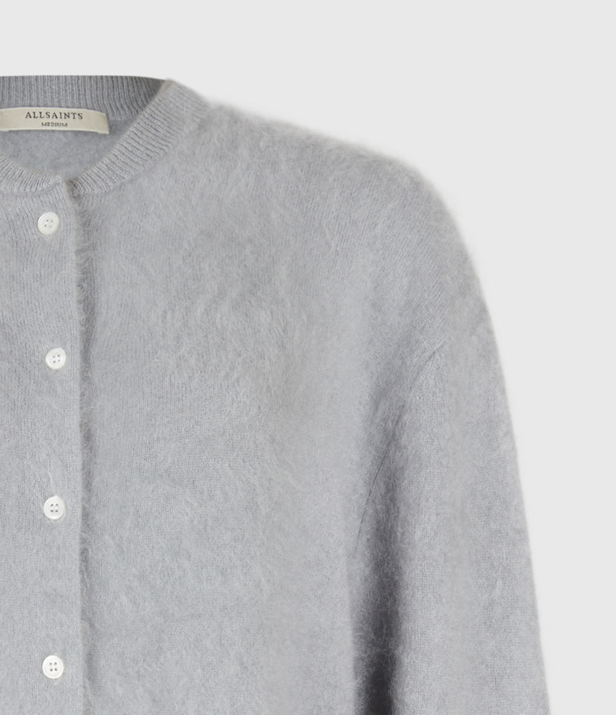 Women's Chrissy Cashmere Cardigan (cement_grey) - Image 5