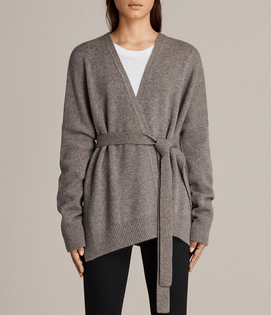 Donne Cardigan Inaya (fossil_brown) - Image 1