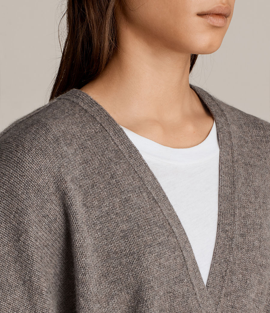 Donne Cardigan Inaya (fossil_brown) - Image 3