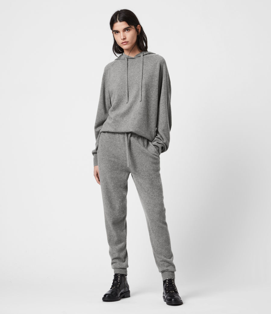 Women's Olly Cashmere Blend Slim Cuffed Joggers (grey_marl) - Image 1