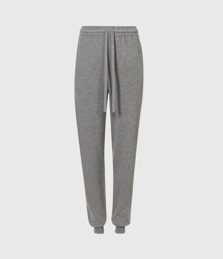 Women's Olly Cashmere Blend Slim Cuffed Joggers (grey_marl) - Image 2