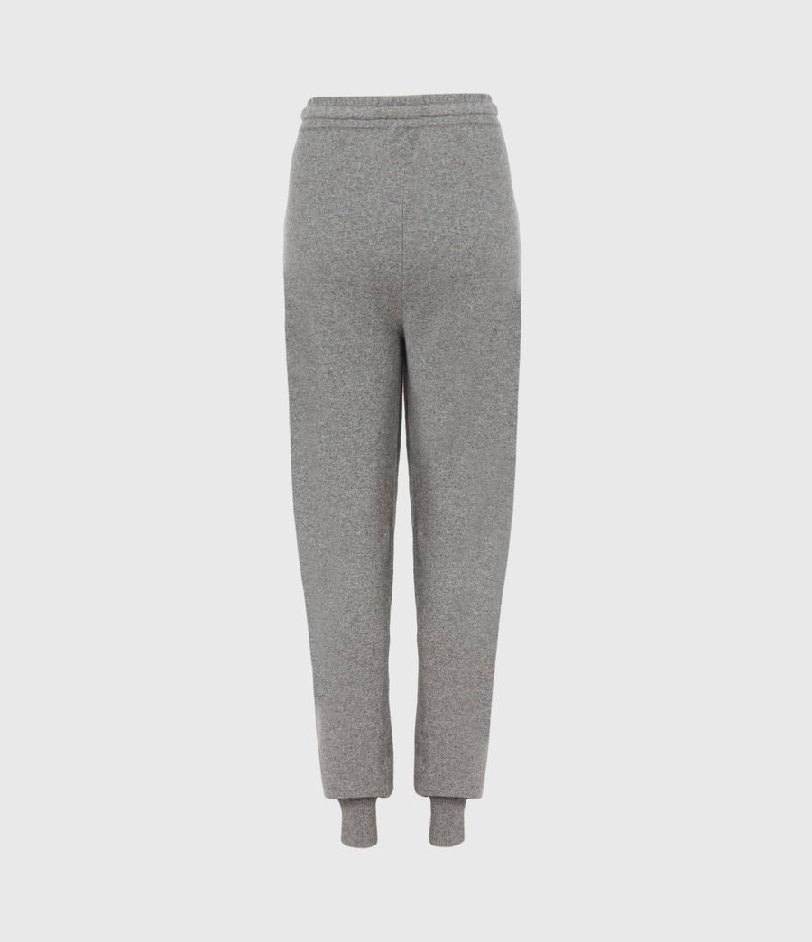 Women's Olly Cashmere Blend Slim Cuffed Joggers (grey_marl) - Image 3