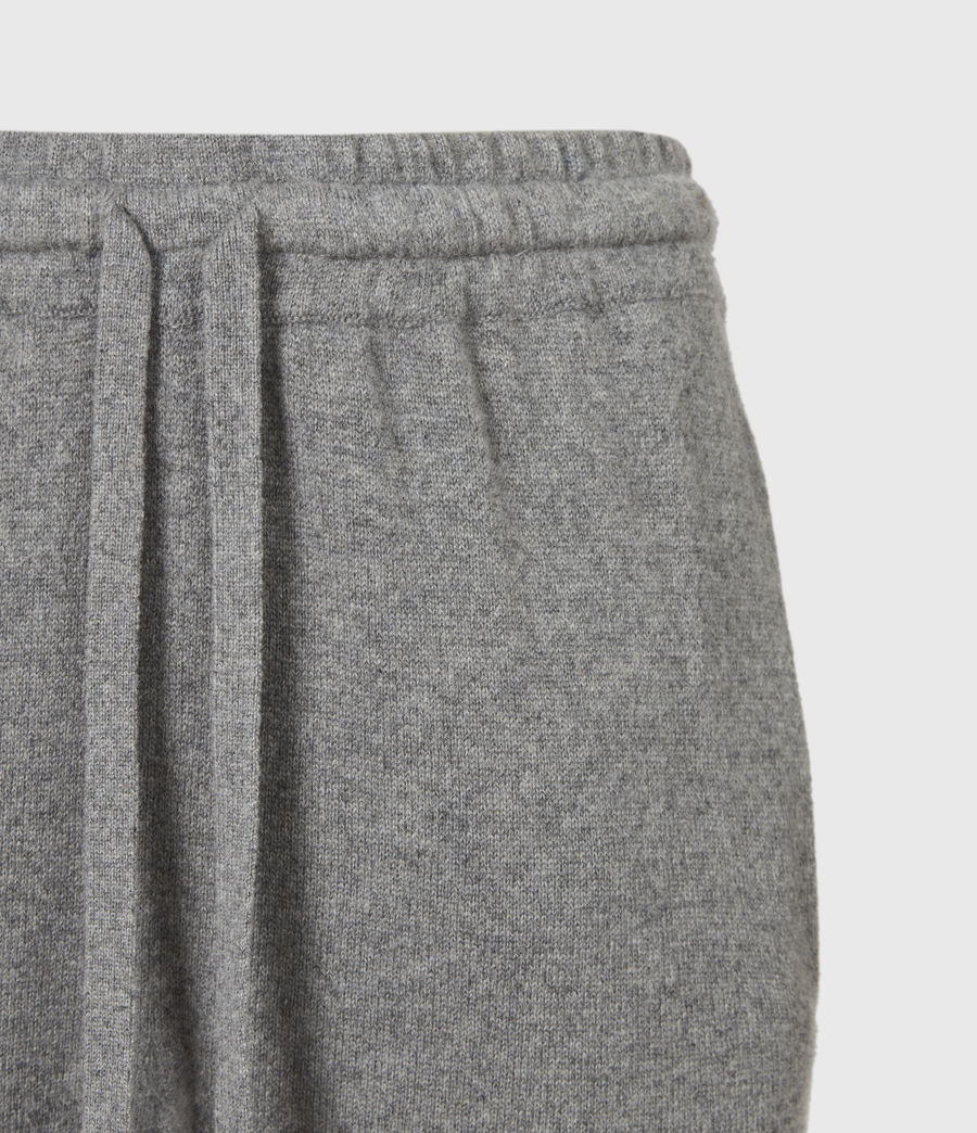 Women's Olly Cashmere Blend Slim Cuffed Joggers (grey_marl) - Image 5
