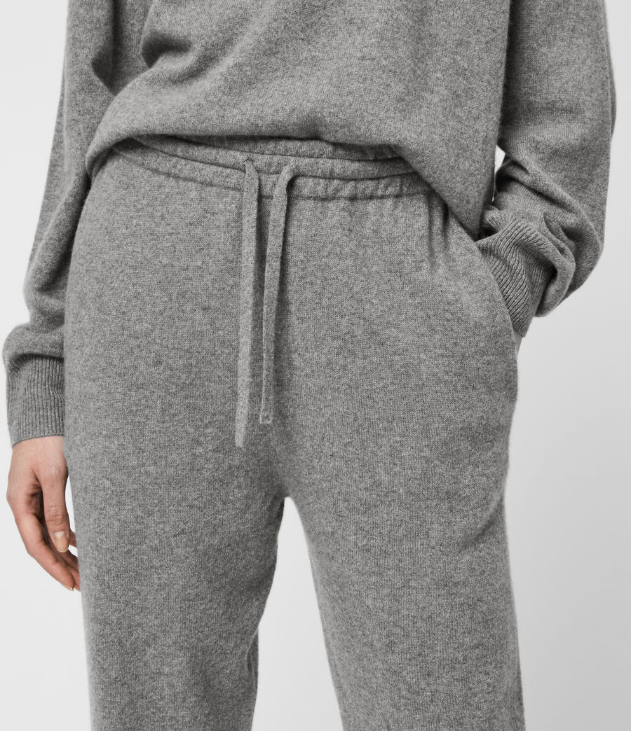 Women's Olly Cashmere Blend Slim Cuffed Joggers (grey_marl) - Image 6