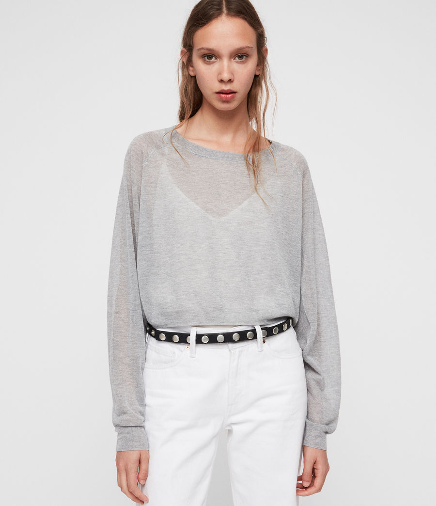 Womens Mali Crew Neck Sweater (pale_grey) - Image 1