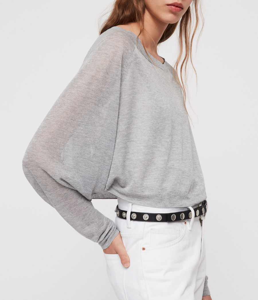 Womens Mali Crew Neck Sweater (pale_grey) - Image 2