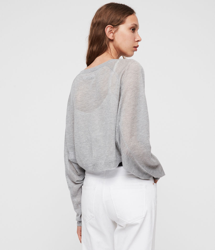 Womens Mali Crew Neck Sweater (pale_grey) - Image 4