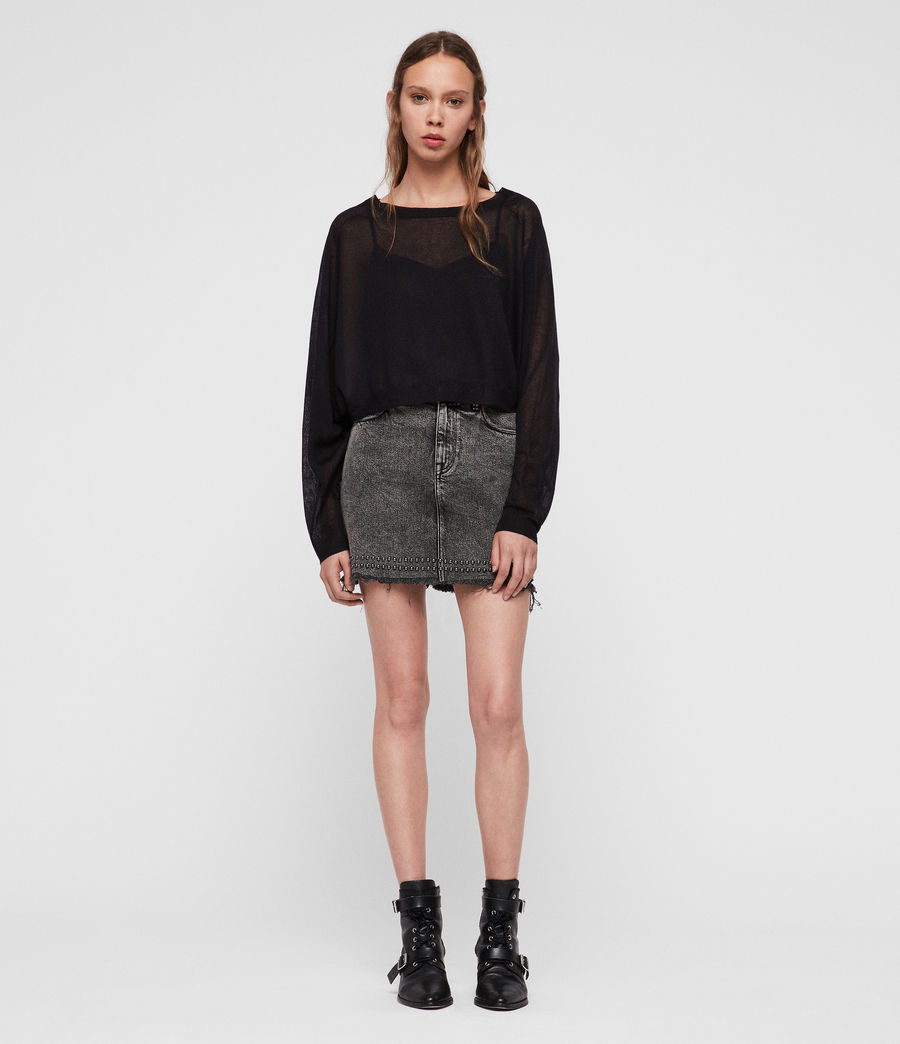 Womens Mali Crew Neck Sweater (black) - Image 2