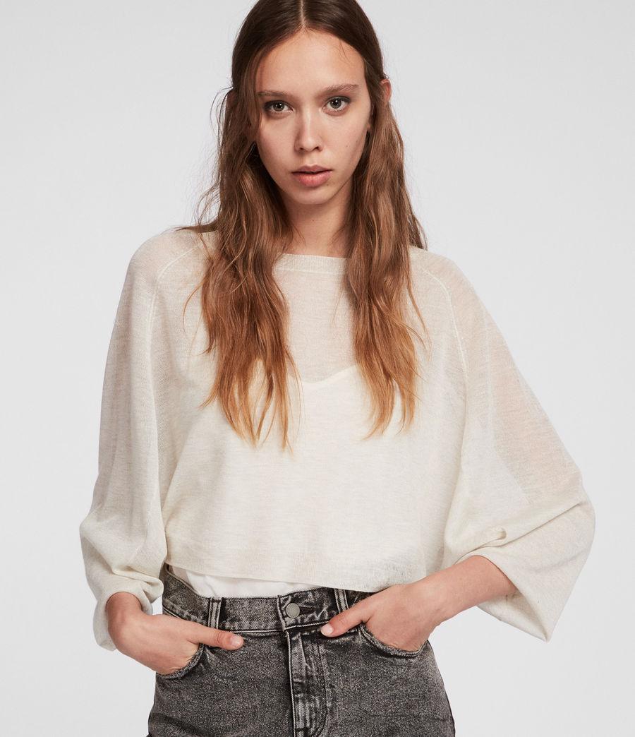 Womens Mali Crew Neck Sweater (linen_white) - Image 3