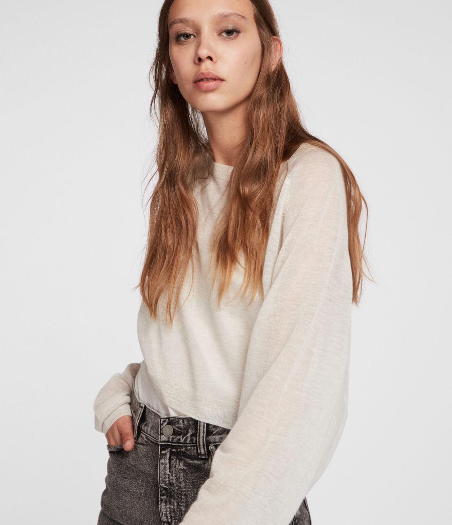Womens Mali Crew Neck Sweater (linen_white) - Image 4