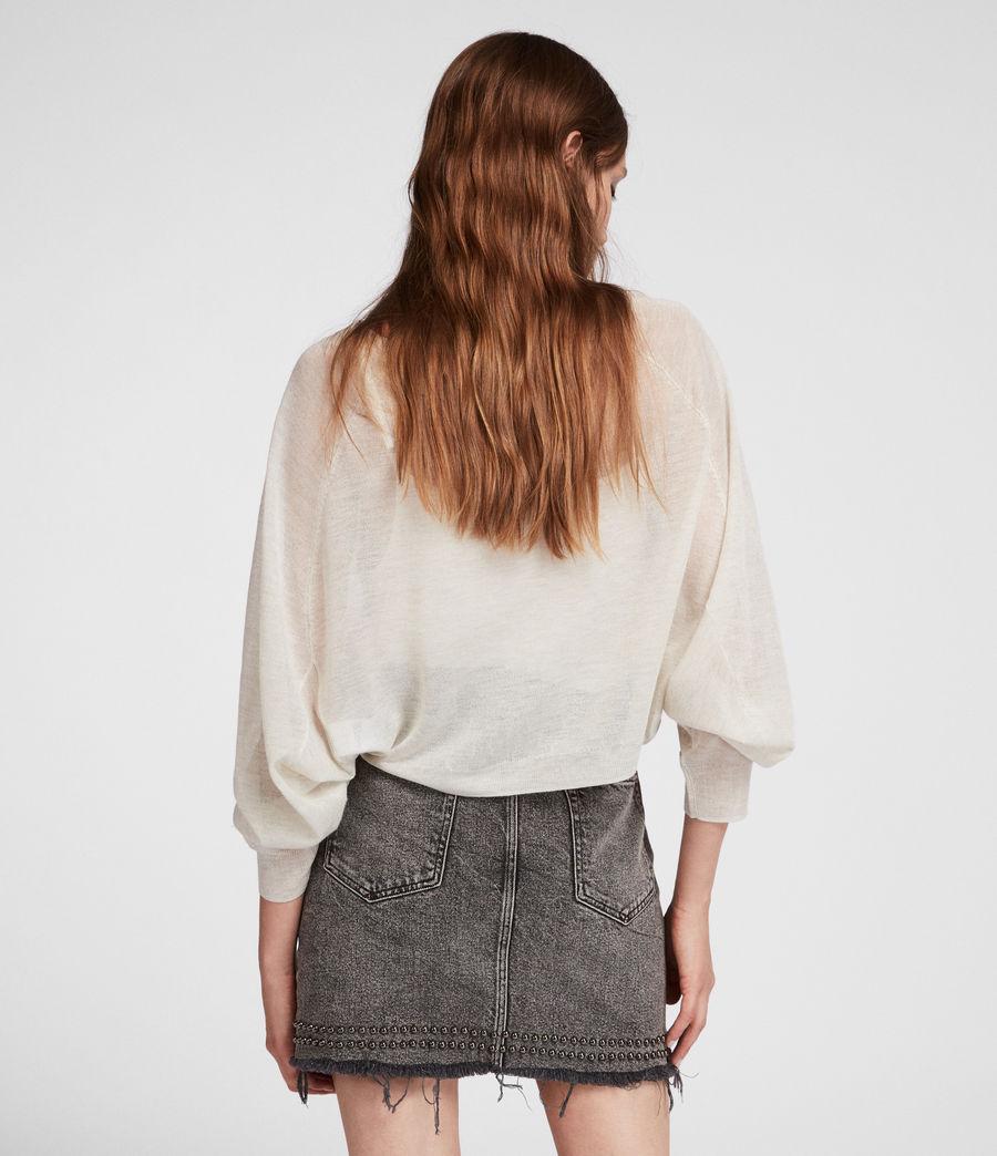 Womens Mali Crew Neck Sweater (linen_white) - Image 5
