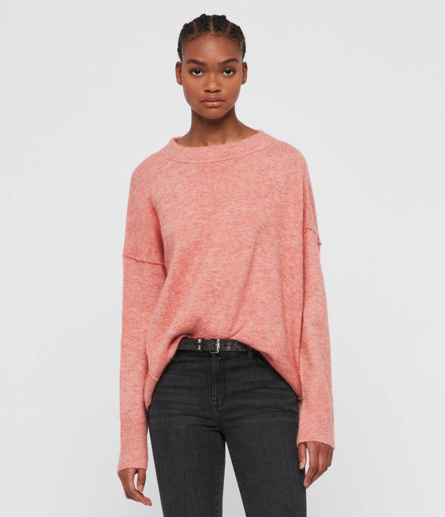 Women's Rue Crew Neck Jumper (quartz_pink) - Image 1