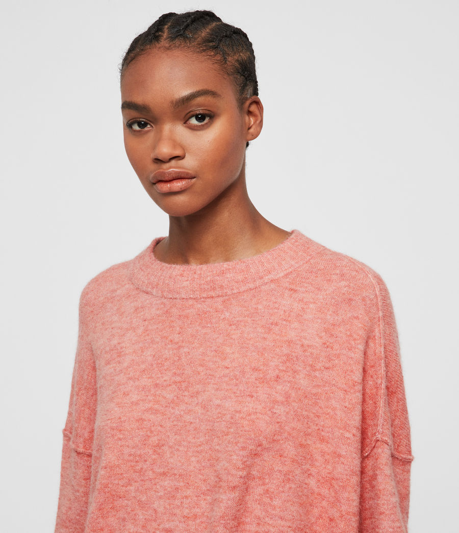 Womens Rue Crew Neck Sweater (quartz_pink) - Image 2