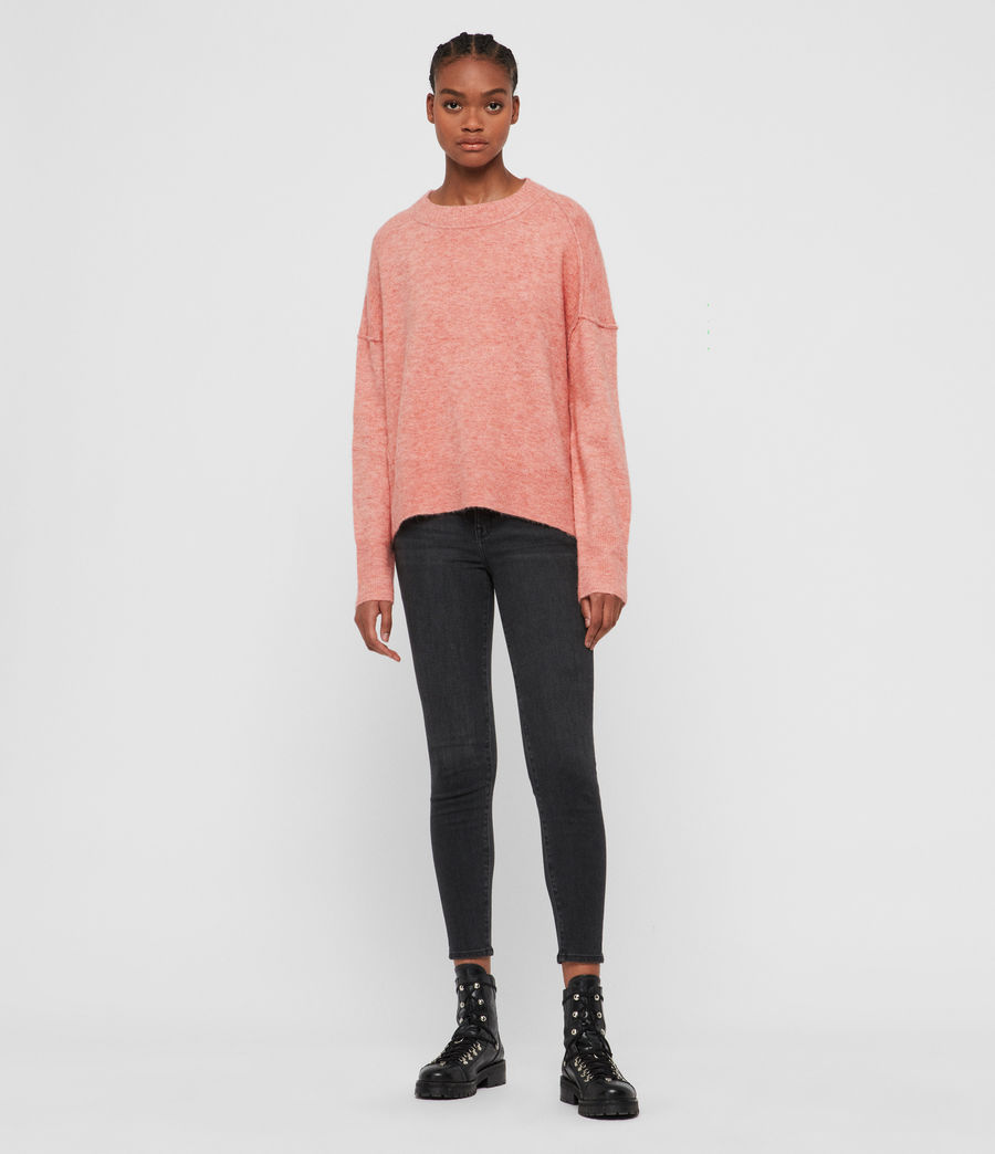 Women's Rue Crew Neck Jumper (quartz_pink) - Image 3