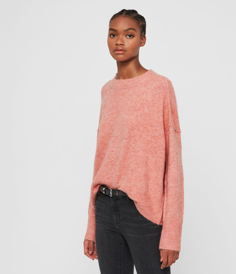 Women's Rue Crew Neck Jumper (quartz_pink) - Image 4