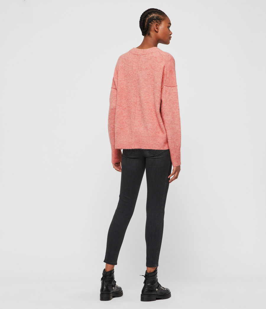 Womens Rue Crew Neck Sweater (quartz_pink) - Image 5