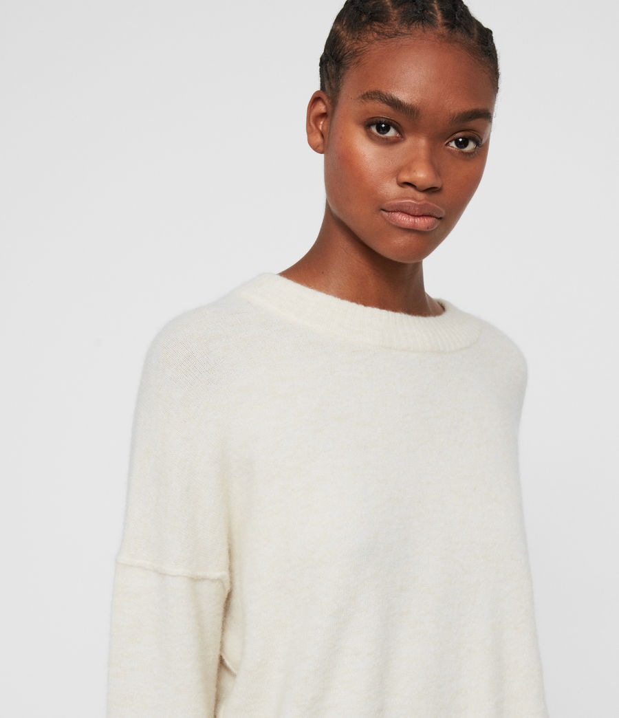 Womens Rue Crew Neck Sweater (alabaster_white) - Image 2