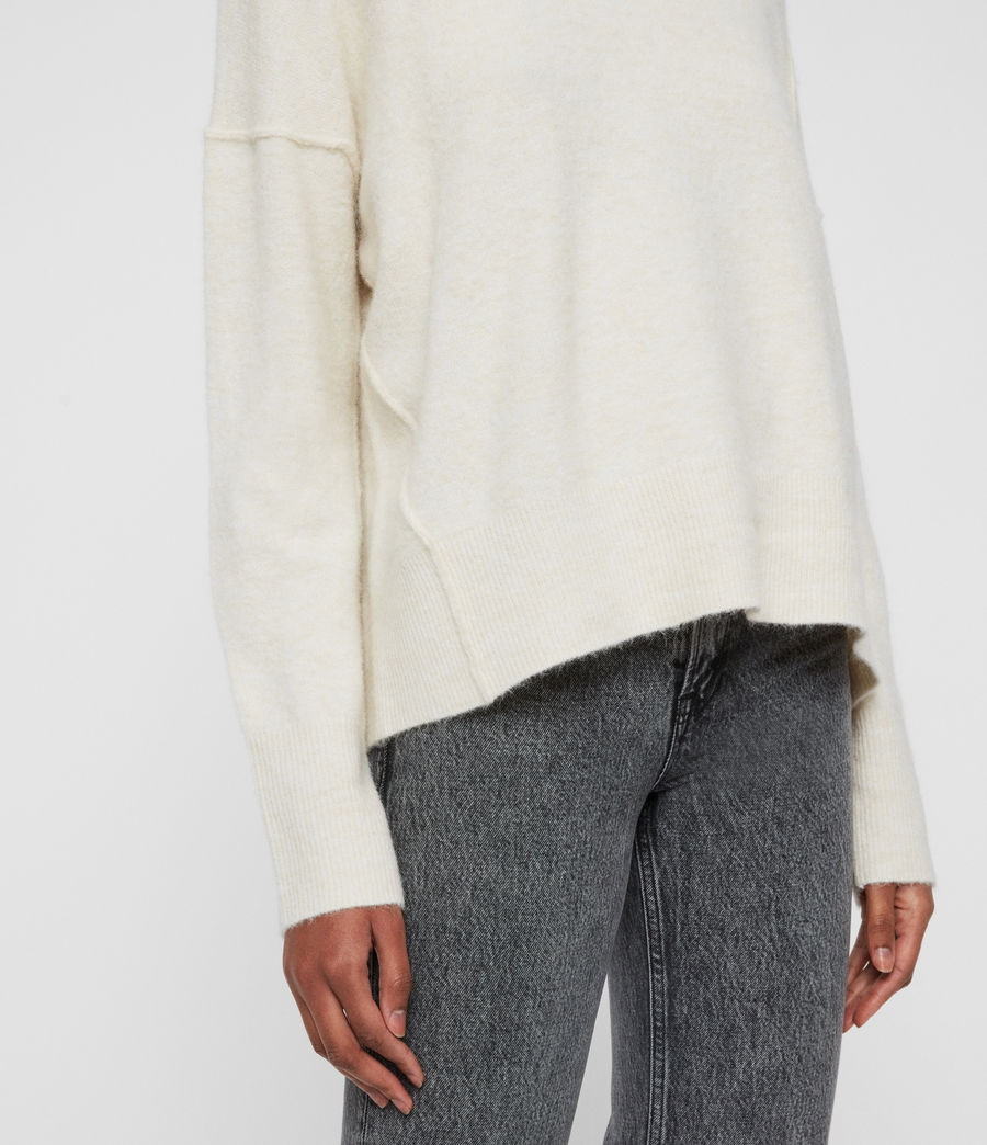 Womens Rue Crew Neck Sweater (alabaster_white) - Image 5