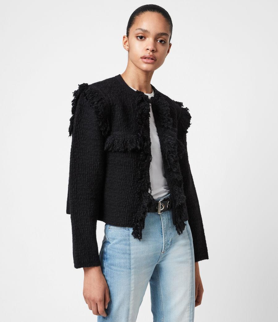 Womens Ashley Tassel Jacket (black) - Image 1