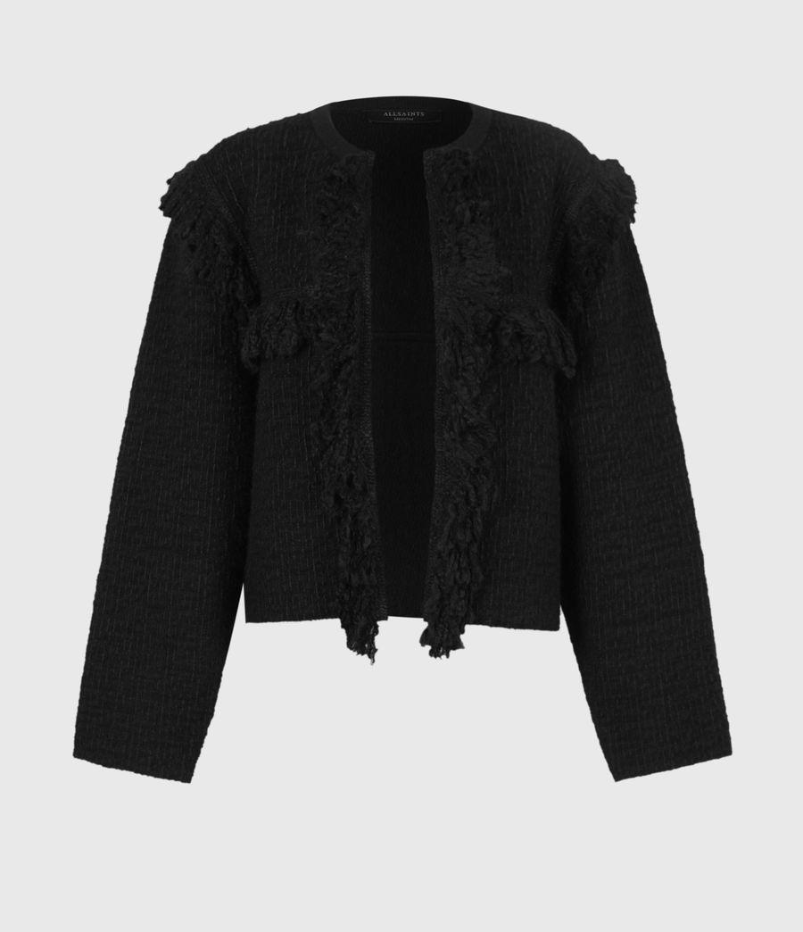 Womens Ashley Tassel Jacket (black) - Image 2