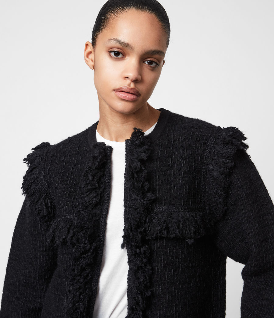 Womens Ashley Tassel Jacket (black) - Image 4
