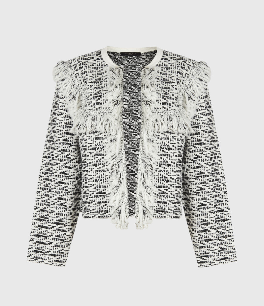 Damen Ashley Franzen Jacke (black_chalk_white) - Image 2