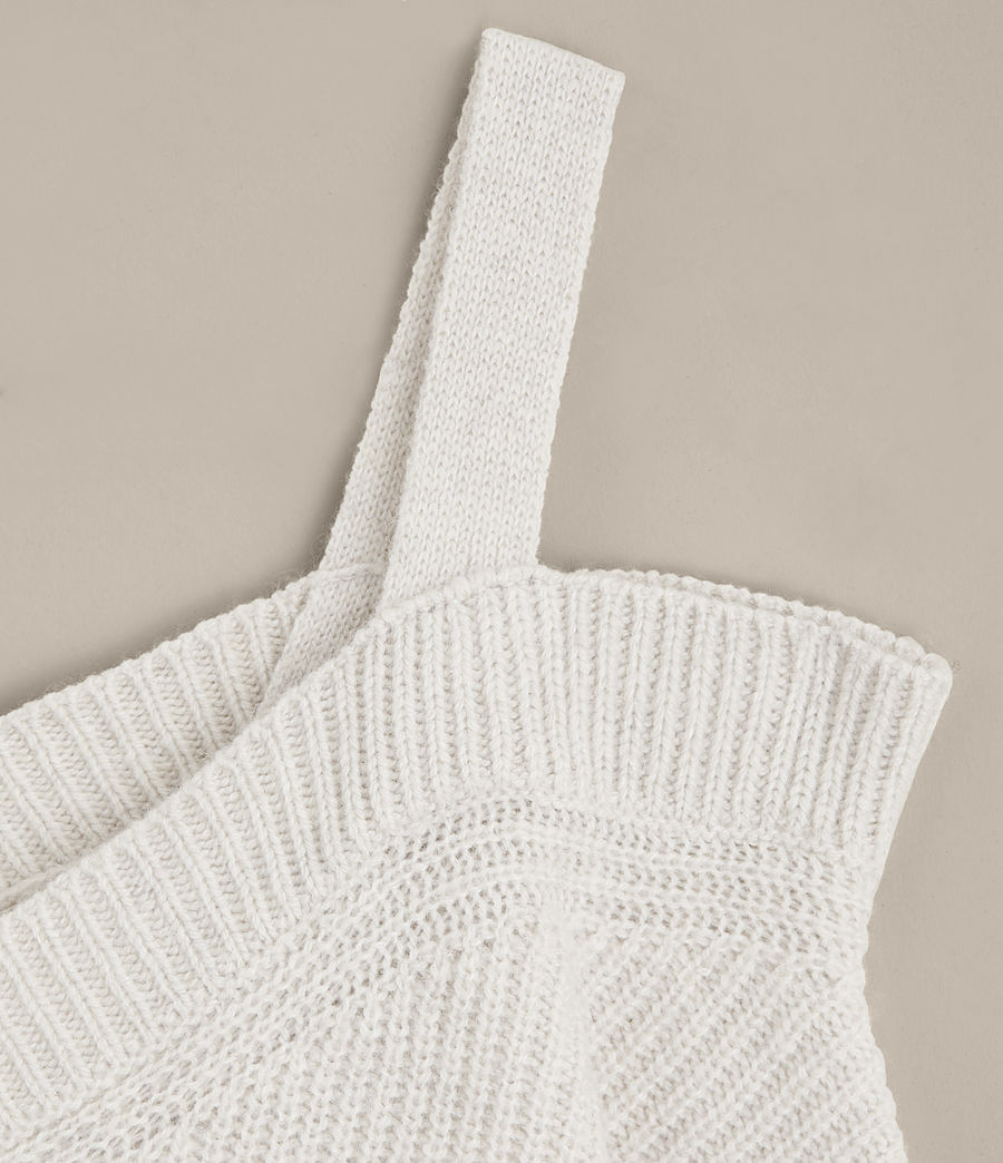 Mujer Jersey de pico Dasha (porcelain_white) - Image 7